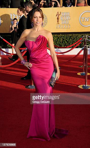 Actress Sofia Vergara arrives at 18th Annual Screen Actors Guild Awards at The Shrine Auditorium on January 29 2012 in Los Angeles California