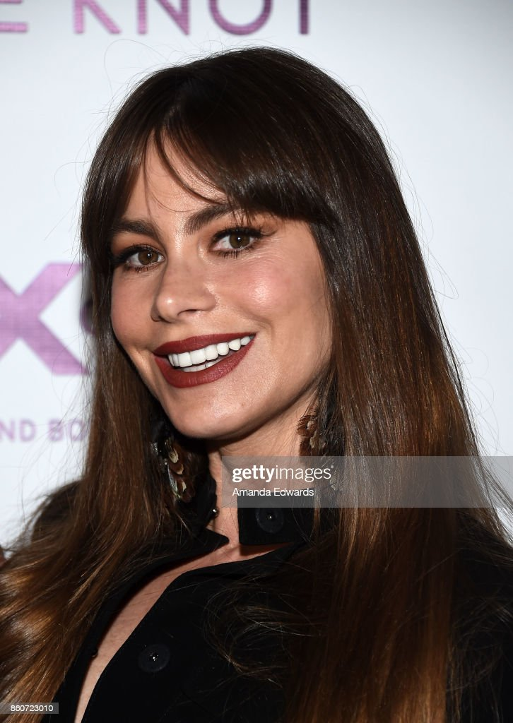 Actress Sofia Vergara arrives at Jesse Tyler Ferguson's Tie The Knot 5-Year Anniversary celebration at NeueHouse Hollywood on October 12, 2017 in Los Angeles, California.