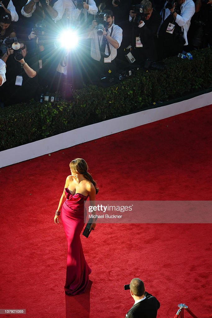 Actress Sofia Vergara arrives at The 18th Annual Screen Actors Guild Awards broadcasted on TNT/TBS at The Shrine Auditorium on January 29, 2012 in Los Angeles, California. (Photo by Michael Buckner/WireImage) 22005_007_MB_0346.JPG