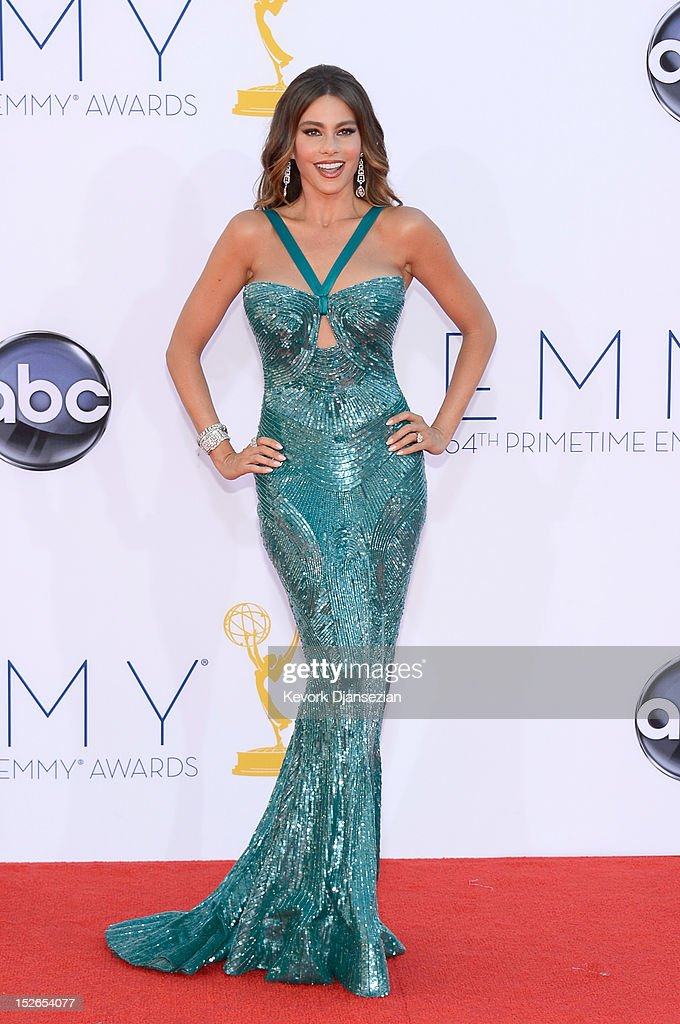 Actress Sofia Vergara arrives at the 64th Annual Primetime Emmy Awards at Nokia Theatre L.A. Live on September 23, 2012 in Los Angeles, California.