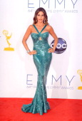 Actress Sofia Vergara arrives at the 64th Annual Primetime Emmy Awards at Nokia Theatre LA Live on September 23 2012 in Los Angeles California
