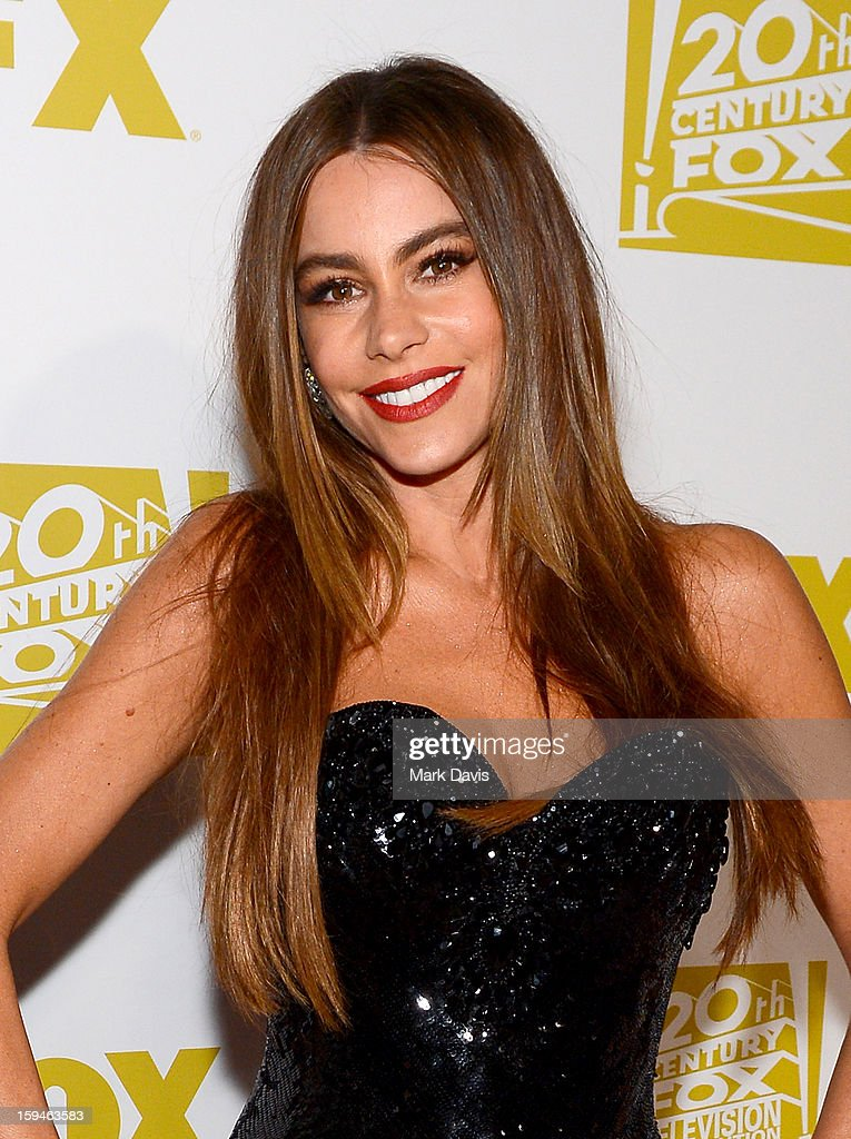 Actress Sofia Vergara arrives at the FOX After Party for the 70th Annual Golden Globe Awards held at The FOX Pavillion at The Beverly Hilton Hotel on January 13, 2013 in Beverly Hills, California.