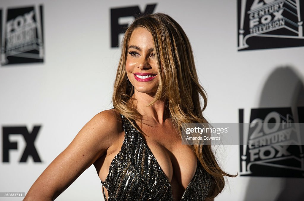 Actress Sofia Vergara arrives at the FOX/FX Golden Globe Party at the FOX Pavilion at the Golden Globes on January 12 2014 in Beverly Hills California
