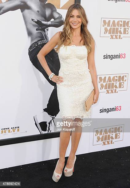 Actress Sofia Vergara arrives at the Los Angeles Premiere 'Magic Mike XXL' at TCL Chinese Theatre IMAX on June 25 2015 in Hollywood California