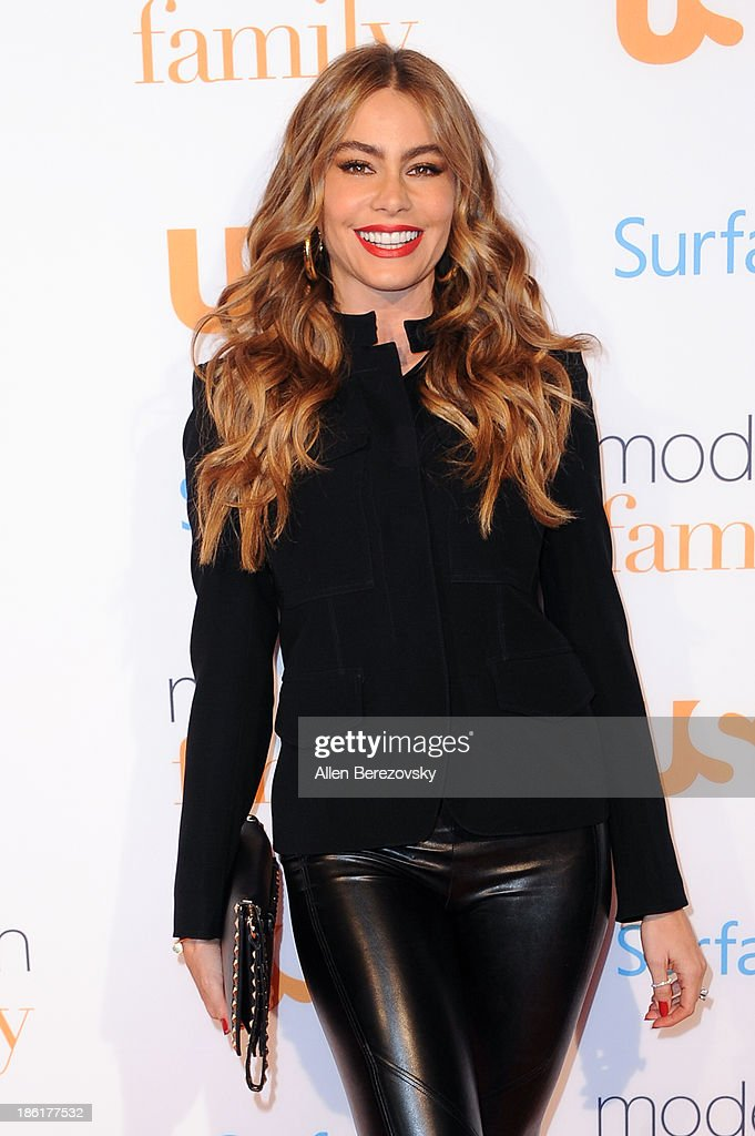 Actress Sofia Vergara arrives at the 'Modern Family' Fan Appreciation Day hosted by USA Network at Westwood Village on October 28, 2013 in Los Angeles, California.