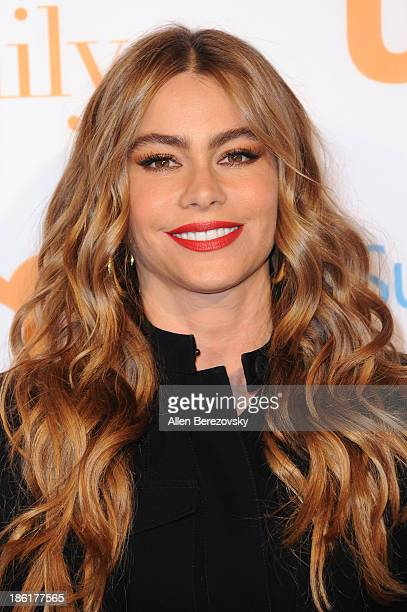 Actress Sofia Vergara arrives at the 'Modern Family' Fan Appreciation Day hosted by USA Network at Westwood Village on October 28 2013 in Los Angeles...