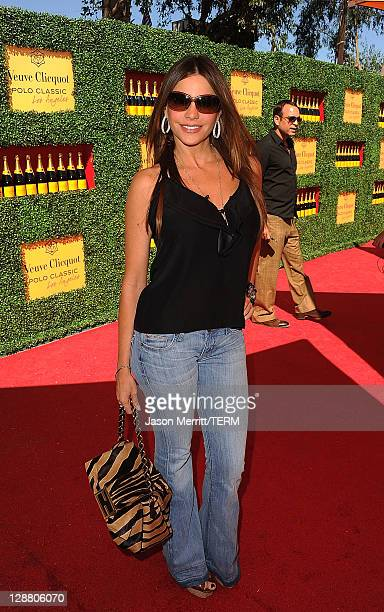 Actress Sofia Vergara arrives at Veuve Clicquot Polo Classic Los Angeles at Will Rogers State Historic Park on October 9 2011 in Los Angeles...