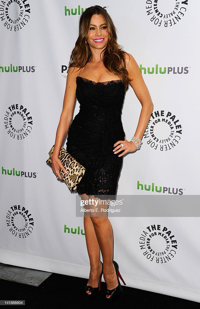 Actress Sofia Vergara arrives to The Paley Center for Media's PaleyFest 2012 honoring 'Modern Family' at Saban Theatre on March 14 2012 in Beverly...