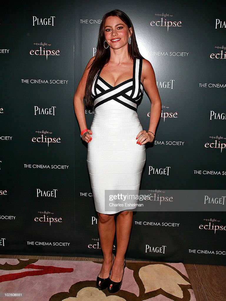 Actress <a gi-track='captionPersonalityLinkClicked' href=/galleries/search?phrase=Sofia+Vergara&family=editorial&specificpeople=214702 ng-click='$event.stopPropagation()'>Sofia Vergara</a> attends a screening of 'The Twilight Saga: Eclipse' hosted by The Cinema Society and Piaget at the Crosby Street Hotel on June 28, 2010 in New York City.