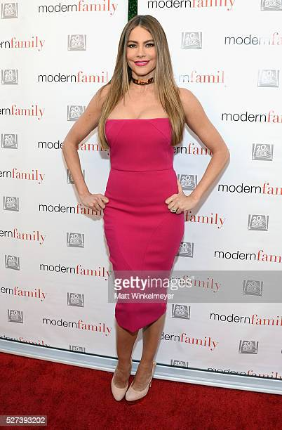 Actress Sofia Vergara attends ABC's 'Modern Family' ATAS Emmy Event at Fox Studios on May 2 2016 in Los Angeles California