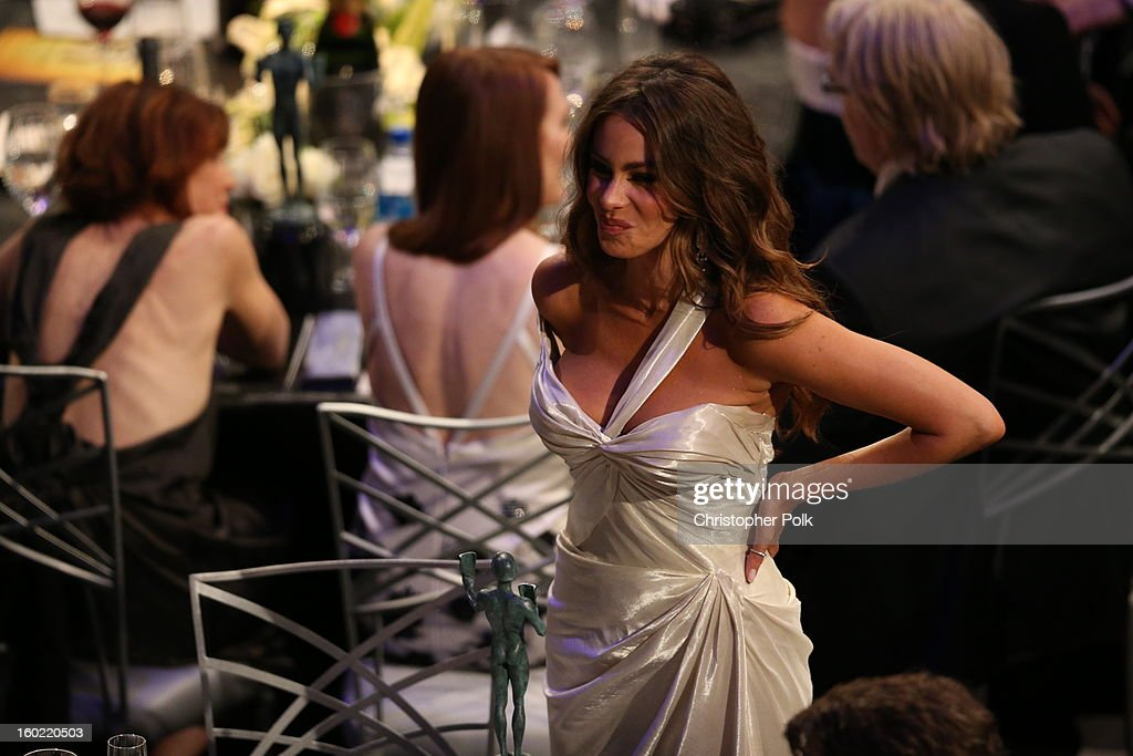 Actress Sofia Vergara attends the 19th Annual Screen Actors Guild Awards at The Shrine Auditorium on January 27, 2013 in Los Angeles, California. (Photo by Christopher Polk/WireImage) 23116_012_2483.JPG