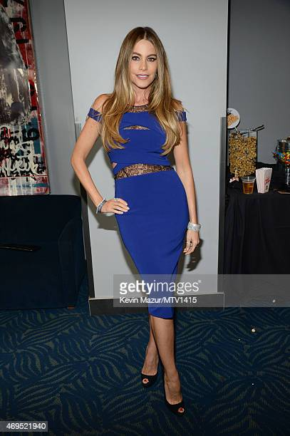 Actress Sofia Vergara attends The 2015 MTV Movie Awards at Nokia Theatre LA Live on April 12 2015 in Los Angeles California