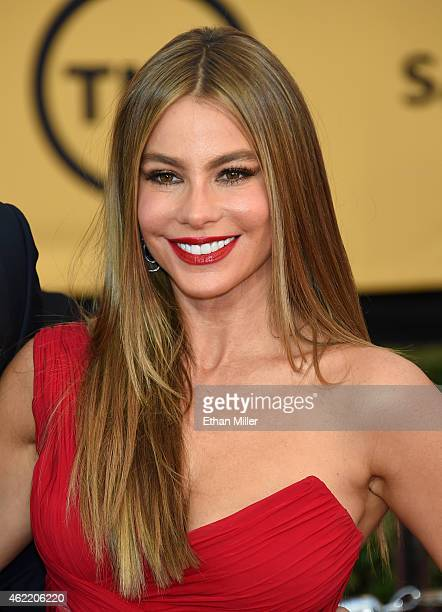 Actress Sofia Vergara attends the 21st Annual Screen Actors Guild Awards at The Shrine Auditorium on January 25 2015 in Los Angeles California