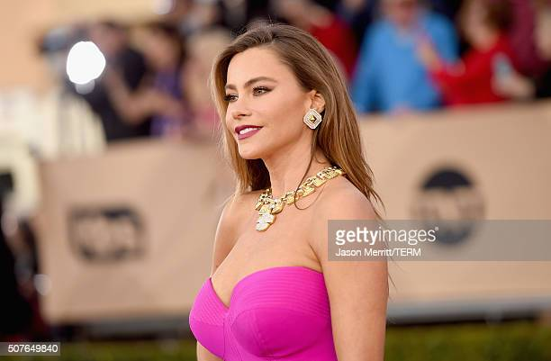 Actress Sofia Vergara attends The 22nd Annual Screen Actors Guild Awards at The Shrine Auditorium on January 30 2016 in Los Angeles California...