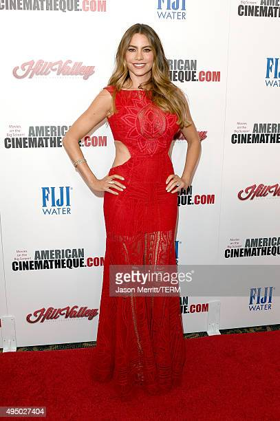 Actress Sofia Vergara attends the 29th American Cinematheque Award honoring Reese Witherspoon at the Hyatt Regency Century Plaza on October 30 2015...
