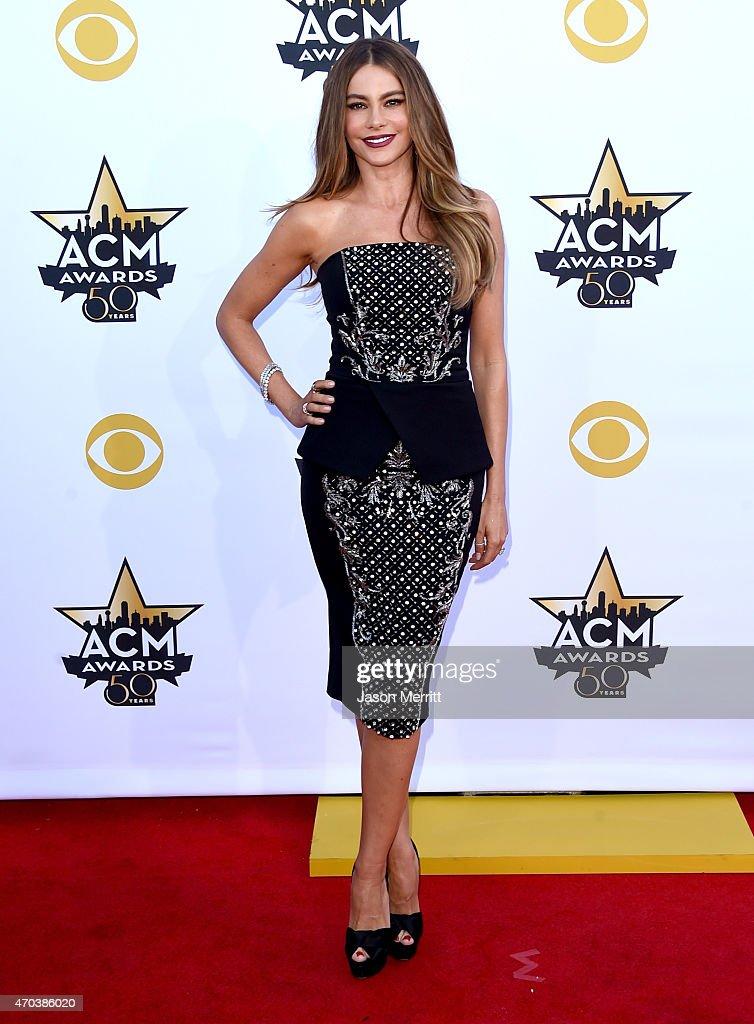 Actress Sofia Vergara attends the 50th Academy of Country Music Awards at ATT Stadium on April 19 2015 in Arlington Texas