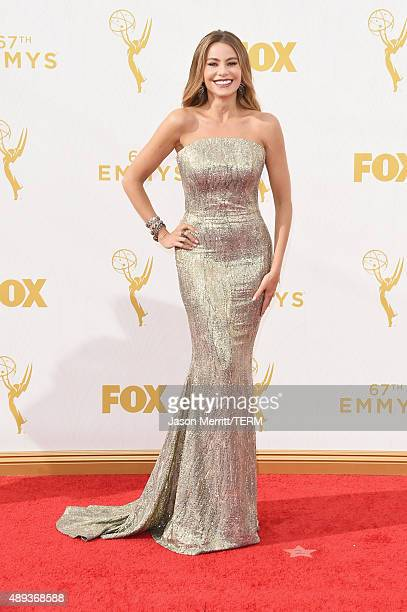 Actress Sofia Vergara attends the 67th Annual Primetime Emmy Awards at Microsoft Theater on September 20 2015 in Los Angeles California