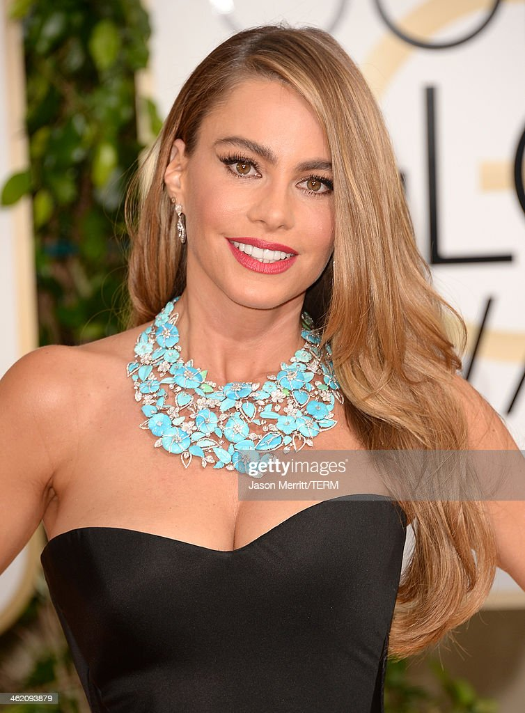 Actress Sofia Vergara attends the 71st Annual Golden Globe Awards held at The Beverly Hilton Hotel on January 12 2014 in Beverly Hills California