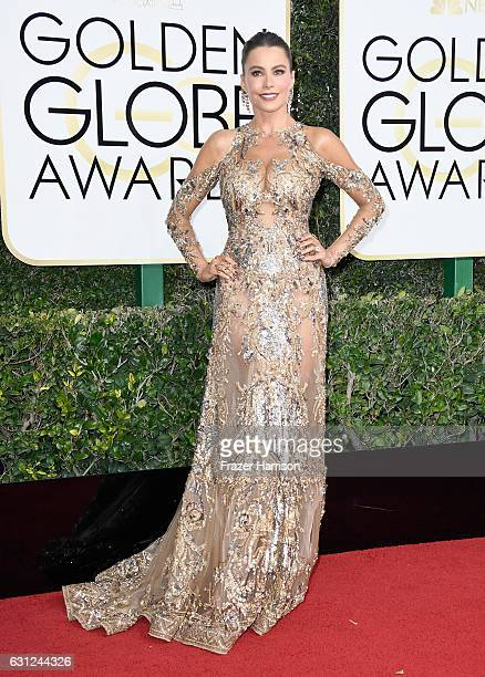 Actress Sofia Vergara attends the 74th Annual Golden Globe Awards at The Beverly Hilton Hotel on January 8 2017 in Beverly Hills California