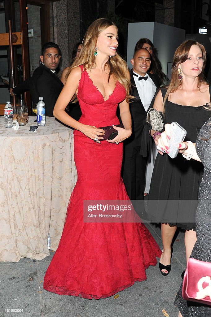 Actress Sofia Vergara attends the Fox Broadcasting, Twentieth Century Fox Television and FX 2013 Emmy nominees celebration at Soleto on September 22, 2013 in Los Angeles, California.