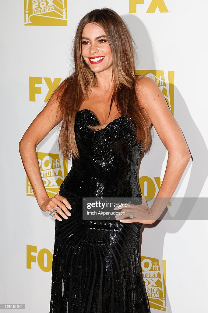 Actress <a gi-track='captionPersonalityLinkClicked' href=/galleries/search?phrase=Sofia+Vergara&family=editorial&specificpeople=214702 ng-click='$event.stopPropagation()'>Sofia Vergara</a> attends the Fox Searchlight 2013 Golden Globe Awards Party on January 13, 2013 in Beverly Hills, California.