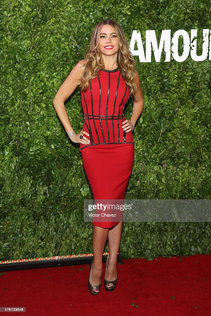 Actress Sofia Vergara attends the 'Hot Pursuit' Mexico City Premiere red carpet at Cinepolis Plaza Carso on June 22 2015 in Mexico City Mexico