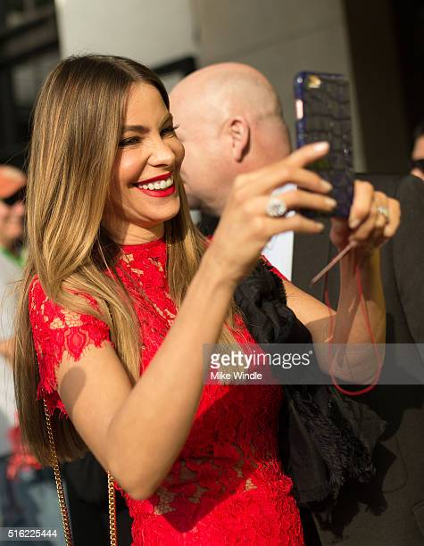 Actress Sofia Vergara attends the premiere of 'Peewee's Big Holiday' during the 2016 SXSW Music Film Interactive Festival at Paramount Theatre on...