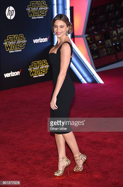Actress Sofia Vergara attends the premiere of Walt Disney Pictures and Lucasfilm's 'Star Wars The Force Awakens' at the Dolby Theatre on December 14...