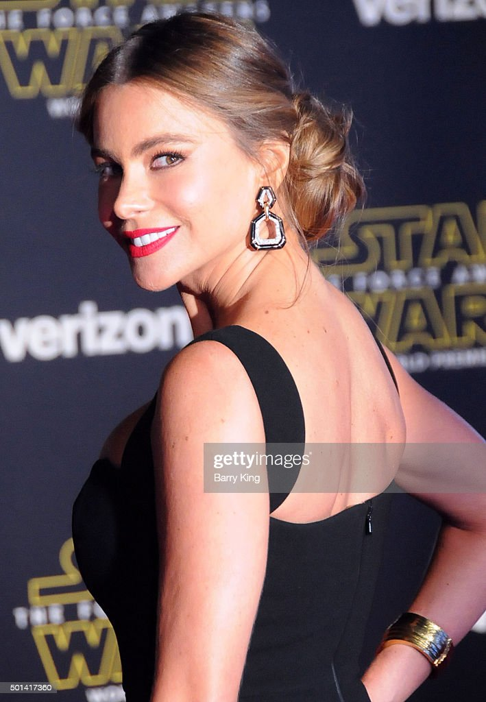 Actress Sofia Vergara attends the Premiere of Walt Disney Pictures and Lucasfilm's 'Star Wars The Force Awakens' on December 14 2015 in Hollywood...