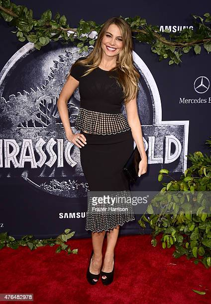 Actress Sofia Vergara attends the Universal Pictures' 'Jurassic World' premiere at Dolby Theatre on June 9 2015 in Hollywood California