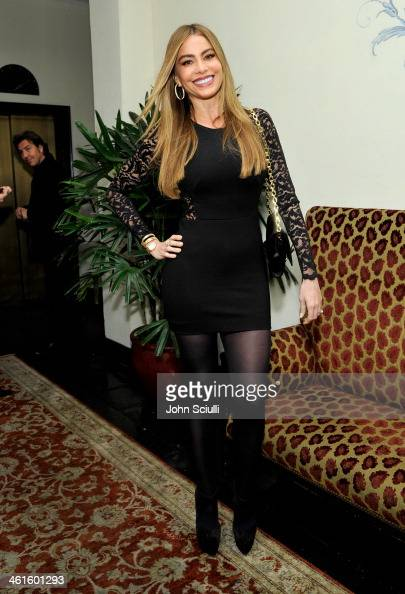Actress Sofia Vergara attends the W Magazine celebration of The 'Best Performances' Portfolio and The Golden Globes with Cadillac and Dom Perignon at...