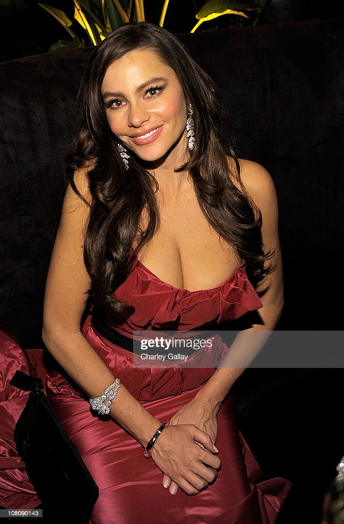 Actress <a gi-track='captionPersonalityLinkClicked' href=/galleries/search?phrase=Sofia+Vergara&family=editorial&specificpeople=214702 ng-click='$event.stopPropagation()'>Sofia Vergara</a> attends The Weinstein Company and Relativity Media's 2011 Golden Globe After Awards Party presented by Marie Claire held at The Beverly Hilton hotel on January 16, 2011 in Beverly Hills, California.