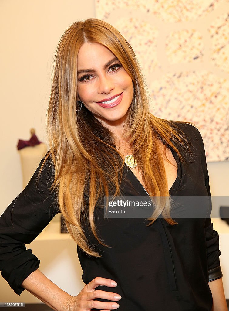 Actress Sofia Vergara attends Tie The Knot Pop-Up Store at The Beverly Center on December 5, 2013 in Los Angeles, California.