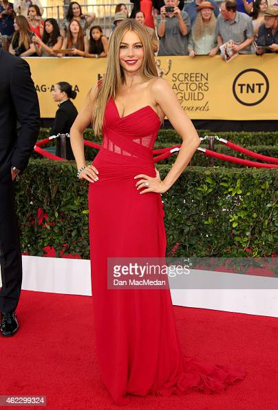 Actress Sofia Vergara attends TNT's 21st Annual Screen Actors Guild Awards at The Shrine Auditorium on January 25 2015 in Los Angeles California