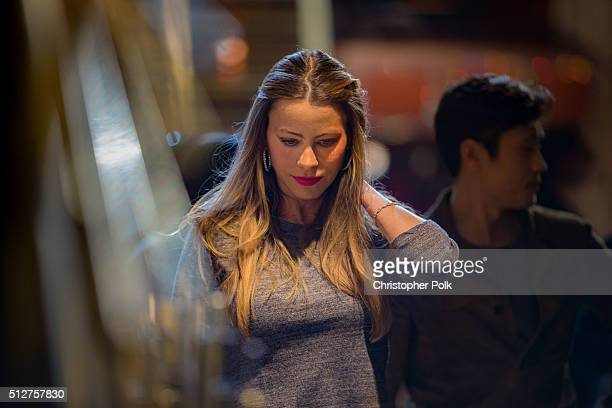 Actress Sofia Vergara backstage during rehearsals for the 88th Annual Academy Awards at Dolby Theatre on February 27 2016 in Hollywood California