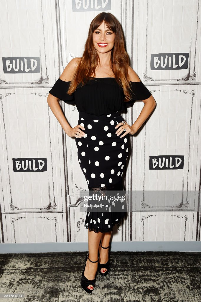 Actress Sofia Vergara Discuses The EBY Lingerie Line at Build Studio on September 27, 2017 in New York City.