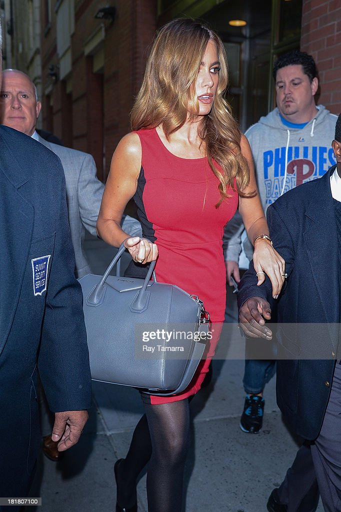 Actress Sofia Vergara enters the 'Live With Kelly And Michael' taping at the ABC Lincoln Center Studios on September 25, 2013 in New York City.