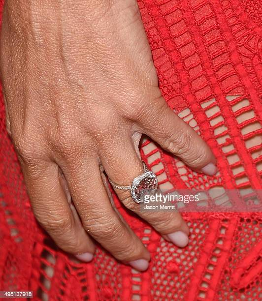 Actress Sofia Vergara fashion detail attends the 29th American Cinematheque Award honoring Reese Witherspoon at the Hyatt Regency Century Plaza on...