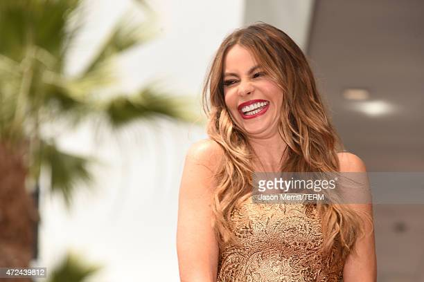 Actress Sofia Vergara is honored on The Hollywood Walk Of Fame on May 7 2015 in Hollywood California