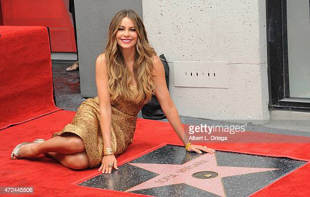 Actress Sofia Vergara is honored with a star on The Hollywood Walk of Fame on May 7 2015 in Hollywood California