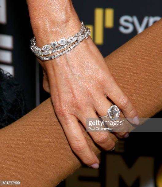 Actress Sofia Vergara jewelry detail 'The Emoji Movie' Special Screening at NYIT Auditorium on Broadway on July 23 2017 in New York City