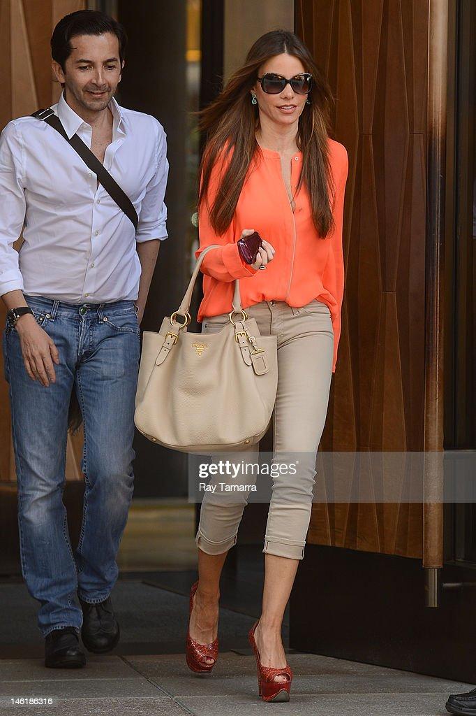 Actress Sofia Vergara leaves her Soho hotel on June 11 2012 in New York City
