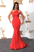 Actress Sofia Vergara of 'Modern Family' poses in the press room after 'Modern Family' wins Outstanding Comedy Series during the 63rd Annual...