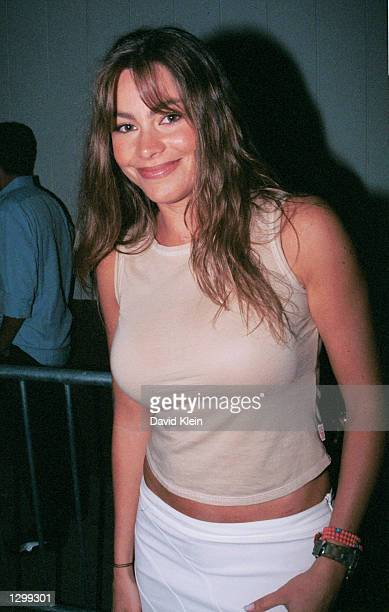 Actress Sofia Vergara poses outside Club AD August 3 2002 in Hollywood California