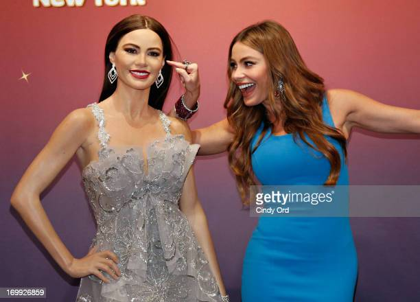 Actress Sofia Vergara unveils two Madame Tussauds wax figures in her likeness for display at Madame Tussauds locations in New York and Las Vegas on...