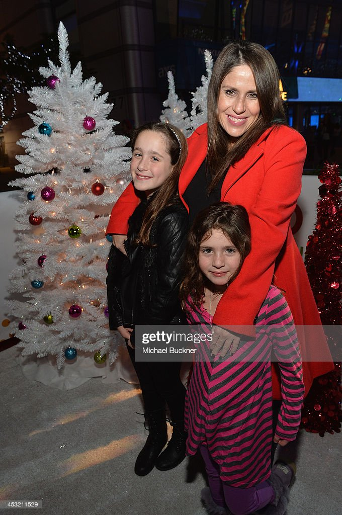 Actress Soleil Moon Frye and daughters Jagger and Poet attend the BestSnowdayEver With Target And Shaun White at LA Live on December 2 2013 in Los...