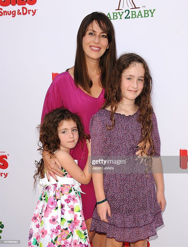 Actress Soleil Moon Frye and daughters Poet Sienna Rose Goldberg (R) and Jagger Joseph Blue Goldberg (L) attend the Baby2Baby Mother's Day garden party on April 27, 2013 in Los Angeles, California.