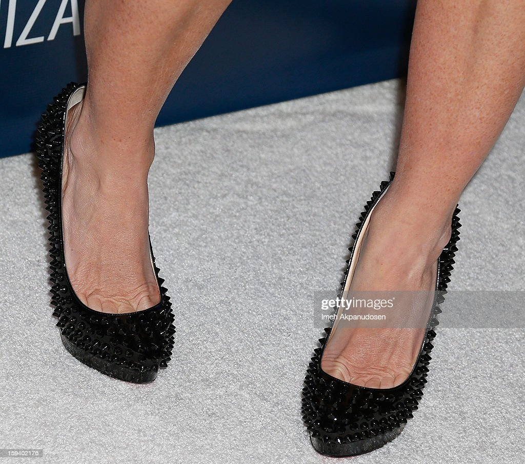 Actress Soleil Moon Frye (shoe detail) attends the 2nd Annual Sean Penn and Friends Help Haiti Home Gala benefiting J/P HRO presented by Giorgio Armani at Montage Hotel on January 12, 2013 in Los Angeles, California.