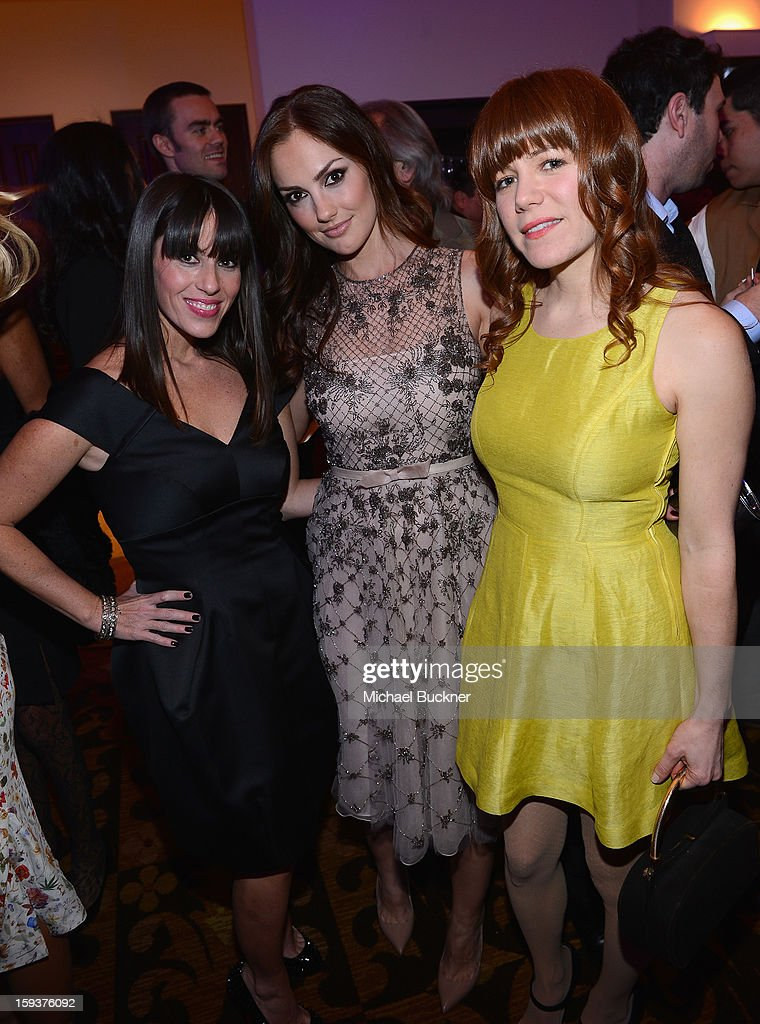 Actress Soleil Moon Frye, Minka Kelly and singer Jenny Lewis attend the 2nd Annual Sean Penn and Friends Help Haiti Home Gala benefiting J/P HRO presented by Giorgio Armani at Montage Hotel on January 12, 2013 in Los Angeles, California.