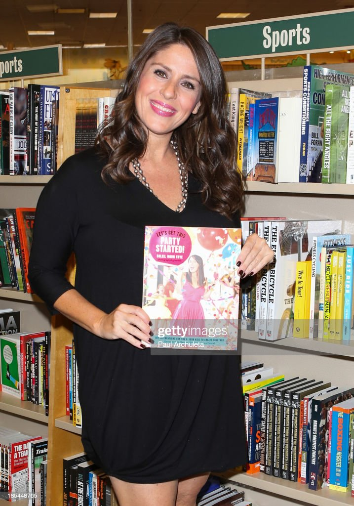 Actress Soleil Moon Frye signs copies of her new book 'Let's Get This Party Started' at Barnes Noble bookstore at The Grove on October 20 2013 in Los...